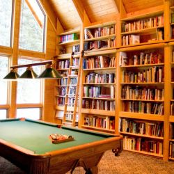 Library and Billiard Room at the Martin's Wolfpack Ranch