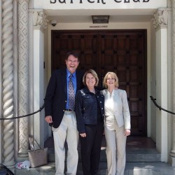 Russ Fuller, Senator Jean Fuller and I at the exclusive Sutter Club in Sacramento.